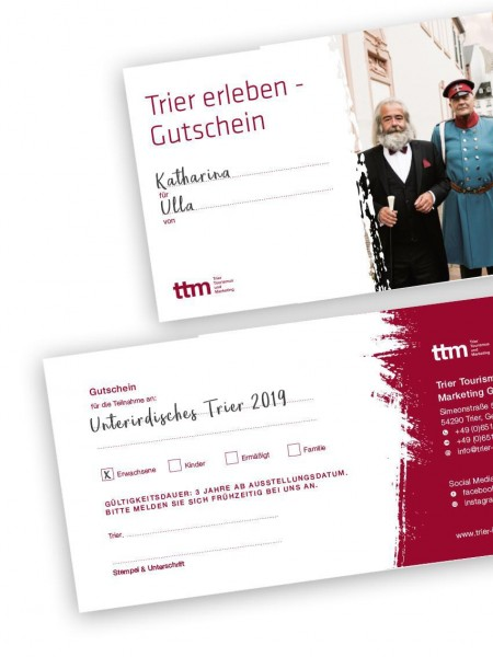 "Tour-Voucher"" Trier Undergrounds"" 2019"
