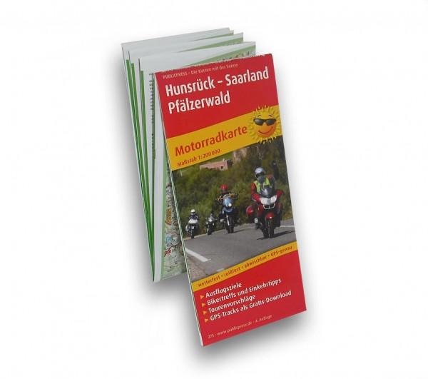 Motorcylle Map Hunsrück, Saarland