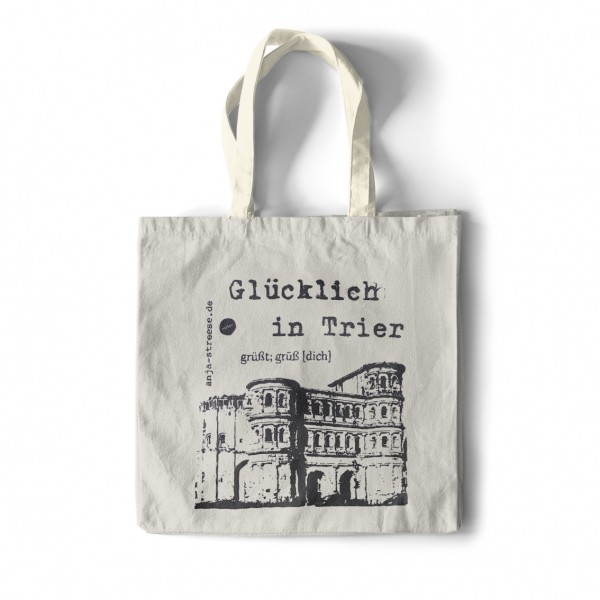 """Happy in Trier"" tote bag"
