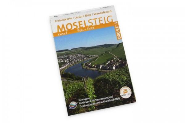 Moseltsteig Karte - Perl nach Trier
