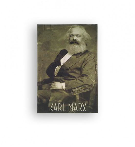 Karl Marx - Magnet schwarz/weiß