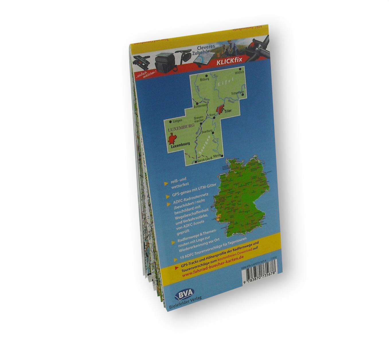Trier Karte Umgebung.Adfc Radtourenkarte Trier Und Umgebung