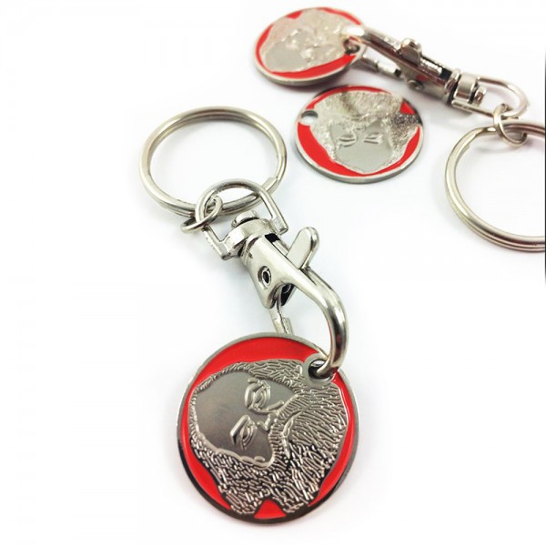 Karl Marx Key Chain + trolley coin red