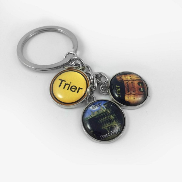 Key chain with three Trier motifs