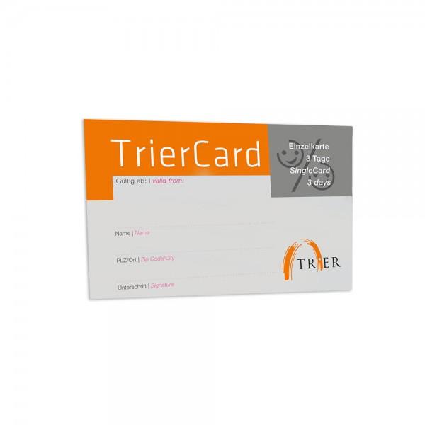 TrierCard, Einzel oder Familiencard