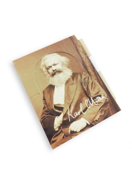 Karl Marx Notizblock inkl. Bleistift