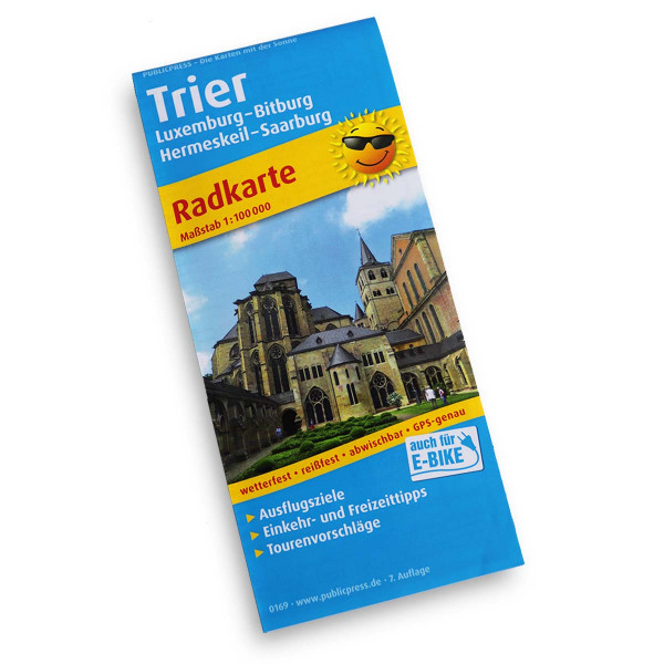 Cycling map of Trier and the surrounding area