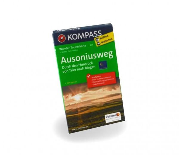 Wander-Tourenkarte: Ausoniusweg