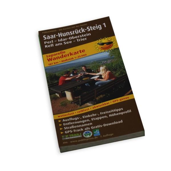Wanderkarte Saar-Hunsrück Steig