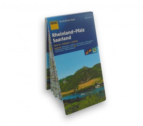 ADAC Karte - Rheinland-Pfalz und Saarland