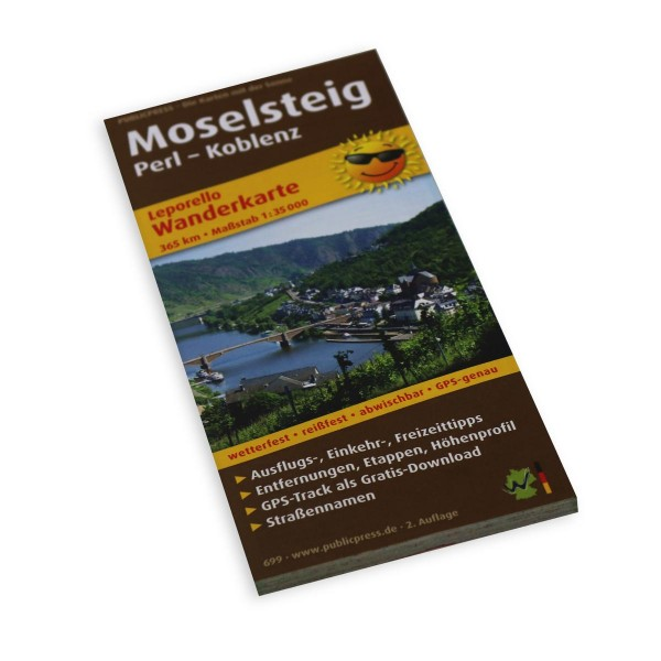 Hiking Map Moselsteig