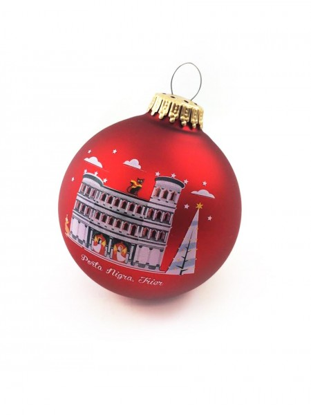 Trier Christmas bauble red