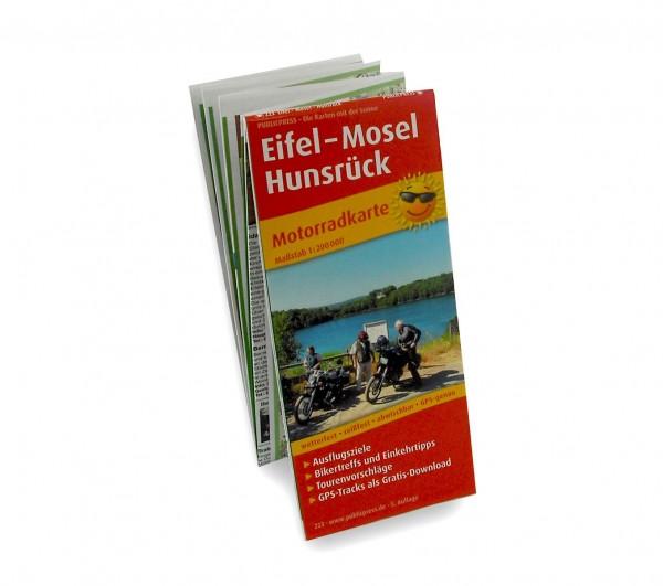 Motorradkarte Eifel, Mosel und Hunsrück