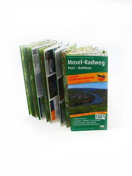 Moselle cycle tour map